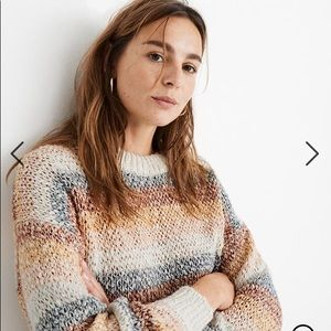 NWT Madewell Baez Pullover Striped Sweater, S